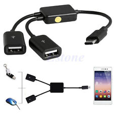 2in1 USB 3.1 Type C to USB 2.0 Host OTG Hub Charger Adapters Cable Cord