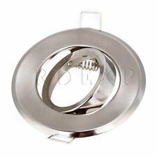 GU10 MR16 Downlight  Fixture Ceiling Lamp Holder Silver