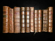 LOT DE 10 VOLUMES RELIES DU XVIIIe SIECLE-1669-1773-LITTERATURE-POESIE-SCIENCES