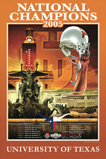 Texas Longhorns Football 2005 NCAA NATIONAL CHAMPIONS Commemorative POSTER