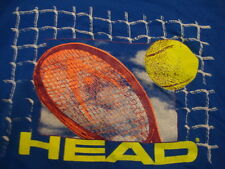 Vintage HEAD Tennis Ball Racquet Sports Athletic Exercise Blue Men's T Shirt XL
