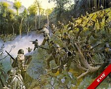 WWII US SOLDIERS IN PHILIPPINES PAINTING MILITARY HISTORY ART REAL CANVAS PRINT