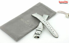 Michele MS16AA060051 Platinum Genuine Leather 16 mm Watch Band