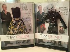 BARBIE TIM GUNN PACK #1#2 FASHIONS LOT Pink Label NRFB
