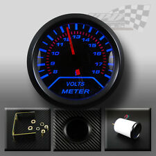 "Volt gauge Blue led 52mm 2"" 12v voltmeter universal custom car"