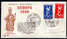 EUROPA CEPT FDC 1958 FRANCE 2