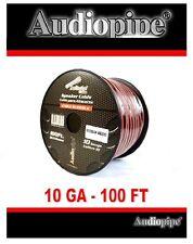 Audiopipe 100' Feet 10 Gauge Zip Red Black 2 Conductor Speaker Wire