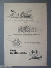 R&L Ex-Mag Advert: Esso Golden Fuel, Cartoon Drawing Grand Prix, Silverstone