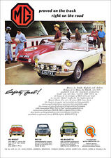 MG MGB LE MANS RACER 1964 RETRO POSTER A3 PRINT FROM CLASSIC ADVERT