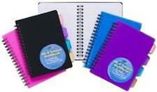 A6 Project Notepad Lined 100 Page Paper Notebook + 4 Part Subject Dividers Tiger