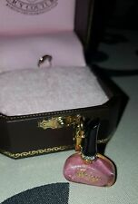 JUICY COUTURE - Pink Nail Polish Charm with Rhinestones NEW in Box YJRU1508