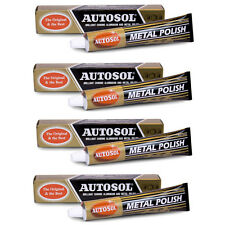 4 x AUTOSOL CHROME & METAL CLEANER & POLISH 100g - THE ORIGINAL & BEST