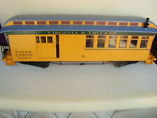 BACHMANN V&T Virginia & Truckee Lighted Combine Car With All Metal Wheels