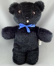 Artist Teddy Bear Faux Persian Lamb Black Plush by Highvale Bears Ontario Canada