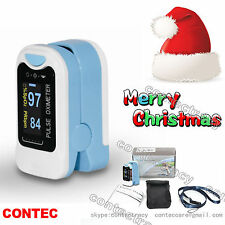 HOT US seller Finger Pulse Oximeter Blood Oxygen SpO2 Monitor FDA CE,light blue