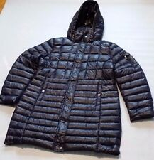 LAUREN RALPH LAUREN LADIES NAVY BLUE QUILTED HOODED LONG DOWN COAT SIZE XXL