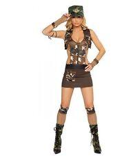 4pc Major Hottie Dress Camoflage Hat Gloves Vest ROMA Halloween Costume S/M