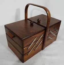 Vintage Nähkasten Utensilienbox Buche Nähkästchen Art Deco - autique sewing box