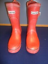 "Hunter Original  Rainboots ""Festival""  Wellies Red Women Boot  SZ#9"