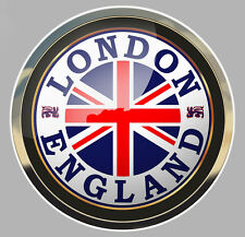 LONDRES SCEAU LONDON ENGLAND SEAL UNION JACK AUTOCOLLANT STICKER 75mm (LA054)