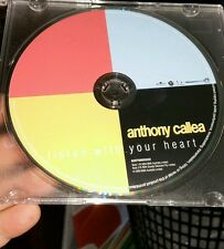Anthony Callea - Listen To Your Heart (disc only) MUSIC CD  - FREE POST