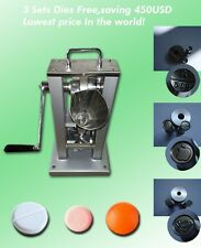 single punch tablet press machine with 3 sets punch die mould,pill press machine
