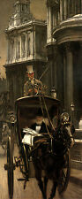 """Nice Oil painting Joseph Tissot - Going to Business businessman on Carriage 40"""""""