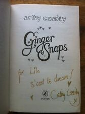Ginger Snaps, Signed With Inscription  By Cathy Cassidy