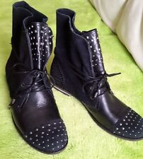 SAK black leather/suede studded ankle booties/boots winter/spring sz 9 & 8.5 new
