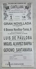 CARTEL PLAZA DE TOROS DE CANTILLANA NOVILLADA 1 JULIO 1989   43x21 Centimetros