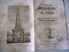 archéologie régionalisme ANTIQUITES VIENNE nicolas Chorier 1828