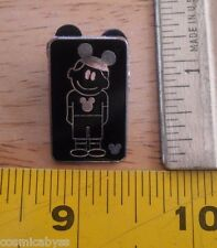 Disney pin black silver boy in hat and t-shirt hidden Mickey collection