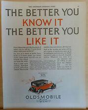1927 magazine ad for Oldsmobile - 2 Door Sedan, Get Behind the wheel