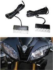 2x LED Motorcycle Turn Signals Blinker Front Rear Peg Fairing Cowl Light Flush :