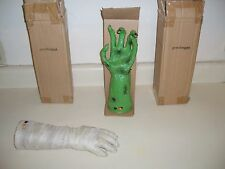 GRANDIN ROAD ANIMATED CRAWLING MUMMY HAND and ANIMATED WITCH HAND. Halloween.