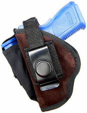 SUEDE LEATHER USA-MADE CLIP-ON/BELT SLIDE HOLSTER for S&W 2213 2214 SPORTSMAN