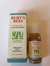 BURT'S BEES 100% NATURAL ACNE SOLUTIONS TARGETED SPOT TREATMENT~BLEMISHES~NIB