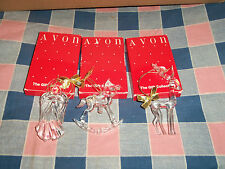 3 Avon Images of Christmas Ornaments Rocking Horse Angel Reindeer Boxes