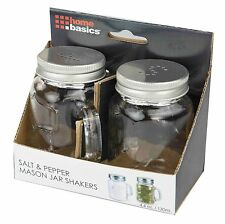 Home Basics NEW 2 PC 2 Piece Salt and Pepper Mason Jar Shaker Set - SP44591