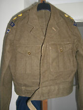 BATTLE DRESS BLOUSE 13 1949 RASC -LT -IN MINT CINDITION-ALL BUTTONS/BUCKLES