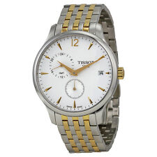 Tissot Tradition Silver Dial Two-tone Mens Watch T0636392203700