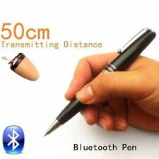 Pen Bluetooth Earpiece Spy Hidden Wireless Invisible Mini Covert Cheat Exam Test
