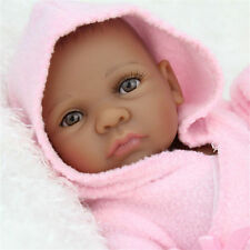 African American Baby Doll Black Girl Full Silicone Body Reborn Baby Alive Dolls
