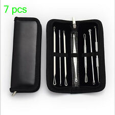 Pimple Popper Spot Acne Blemish Blackhead Remover Comedone Extractor 7 piece Set