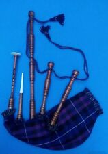 SL Highland Bagpipes Rosewood Natural Plain Ready to Play/Bagpipe Reeds/Gaita