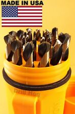 Norseman 29 Pc Drill Bit Set Molybdenum M7 Neon Orange Case USA MADE Warranty