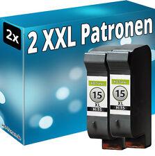 SET 2x TINTE PATRONEN für HP 15 für DeskJet 920c 825c 840c 845c 916c C6615DE