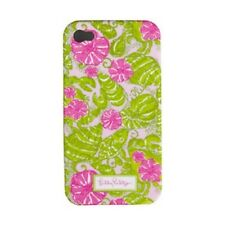 """LILLY PULITZER IPhone 4 / 4S """"CHUM BUCKET""""  Mobile Cell Phone Cover PINK Case NW"""