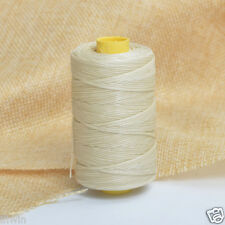 Off-White 100m/109yards Flat Leather Sewing Waxed Thread For AWL Shoes Bag Craft