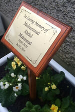 Solid Wooden Memorial Stake Grave/Tree Marker Islam Arabic Personalised Plaque
